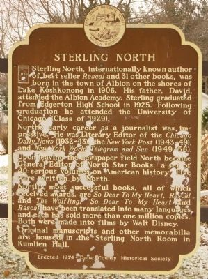 Sterling North Marker image. Click for full size.