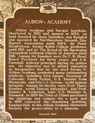 Albion Academy Marker image. Click for full size.