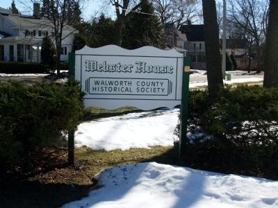 The Webster House Sign image. Click for full size.