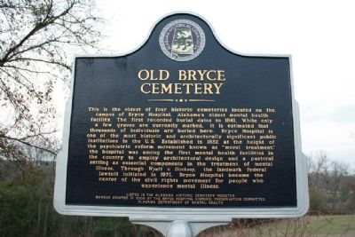 Old Bryce Cemetery Marker image. Click for full size.