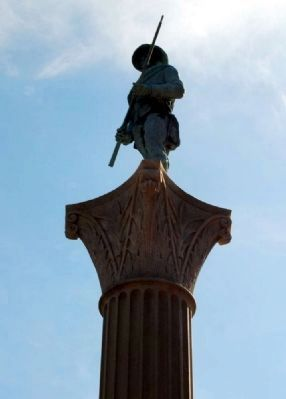 Spartanburg Confederate War Monument Statue image. Click for full size.