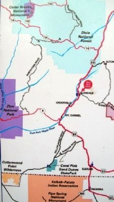 Area Map on Glendale Orientation Center Marker image. Click for full size.