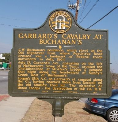 Garrard's Cavalry at Buchanan's Marker image. Click for full size.