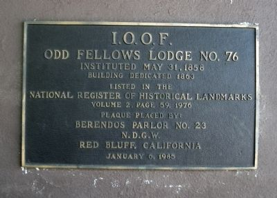 I.O.O.F. Odd Fellows Lodge No. 76 Marker image. Click for full size.
