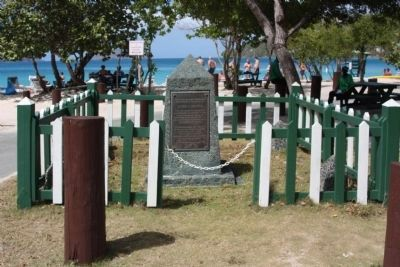 Arthur S. Fairchild Marker at Magens Bay Beach image. Click for full size.