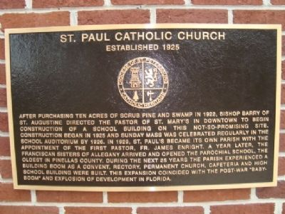 St. Paul Catholic Church Marker image. Click for full size.