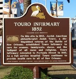 Touro Infirmary - 1852 Marker image. Click for full size.