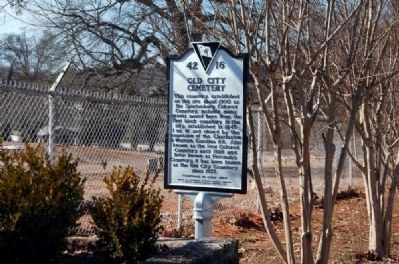 Old City Cemetery Marker - Front image. Click for full size.