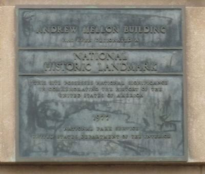 Andrew Mellon Building Marker image. Click for full size.