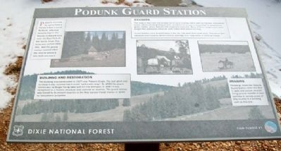 Podunk Guard Station Marker image. Click for full size.