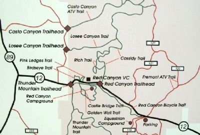 Red Canyon Trailhead Map image. Click for full size.