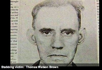Stabbing victim Thomas W. Brown image. Click for full size.