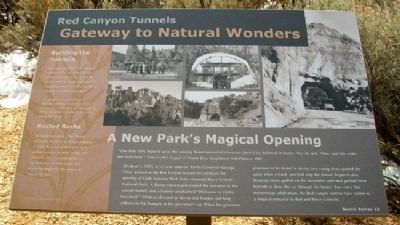 Red Canyon Tunnels Marker image. Click for full size.