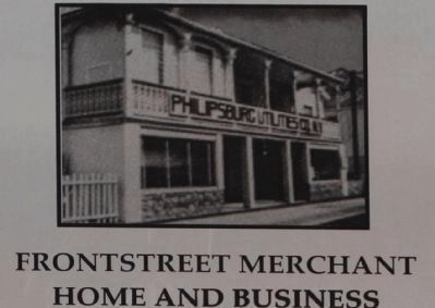 Frontstreet Merchants Marker, close-up image. Click for full size.