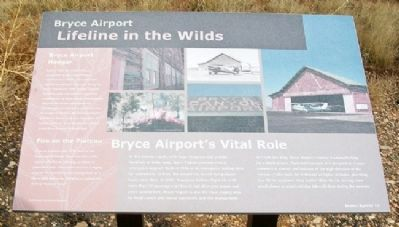 Bryce Airport Marker image. Click for full size.