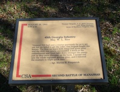 45th Georgia Infantry Marker image. Click for full size.