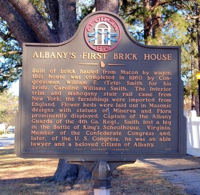 Albany's First Brick House Marker image. Click for full size.