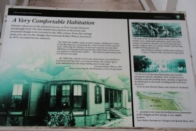 A Very Comfortable Habitation Marker image. Click for full size.