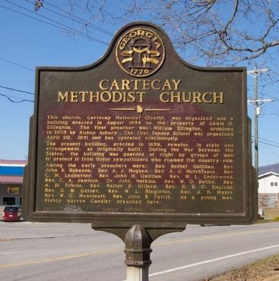 Cartecay Methodist Church Marker image. Click for full size.