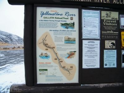 Along the Yellowstone River Marker image. Click for full size.