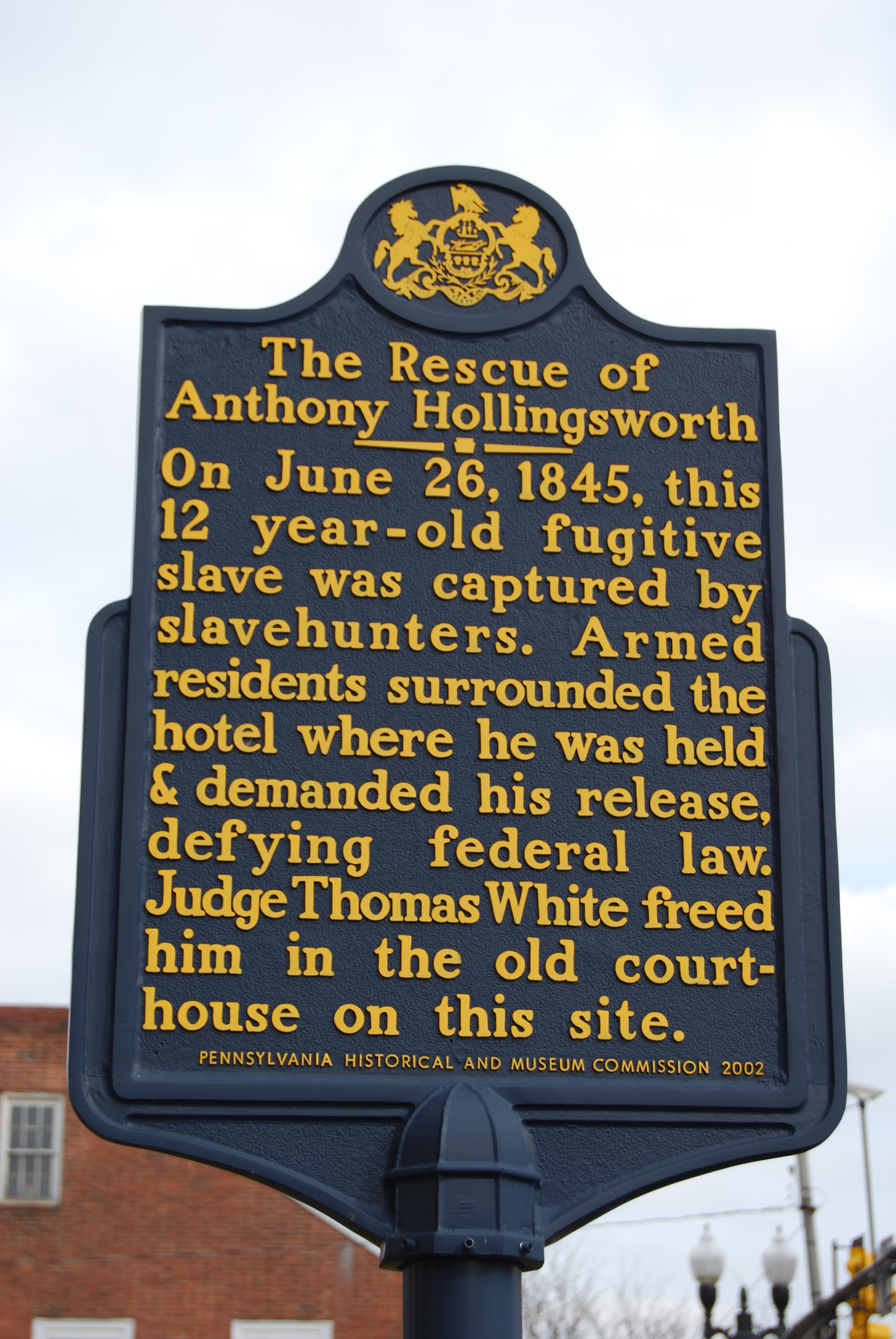 The Rescue of Anthony Hollingsworth Marker