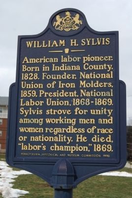 William H. Sylvis Marker image. Click for full size.