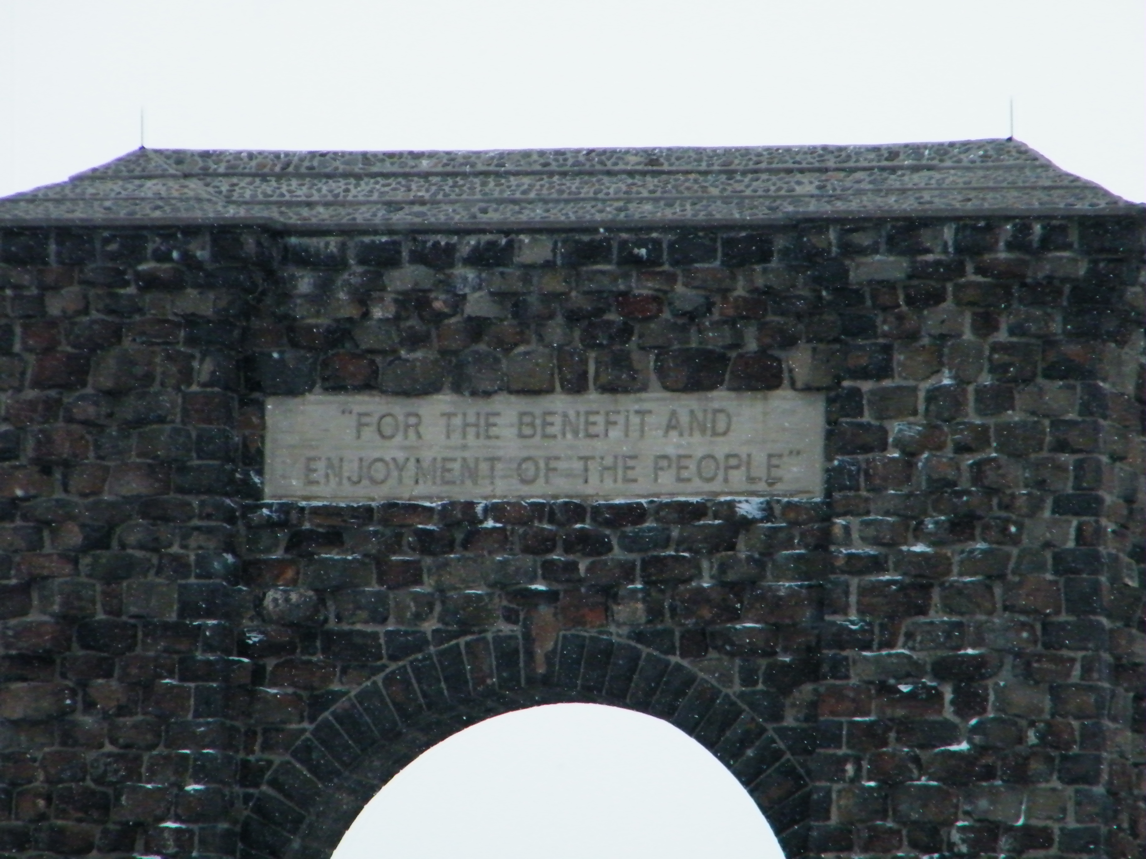 Roosevelt Arch Inscription