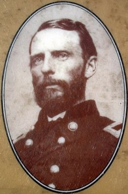 Close-up of Gen. Grover photo on marker image. Click for full size.