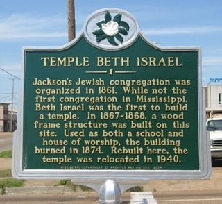Temple Beth Israel Marker image. Click for full size.