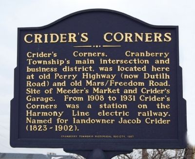 Crider's Corners Marker image. Click for full size.