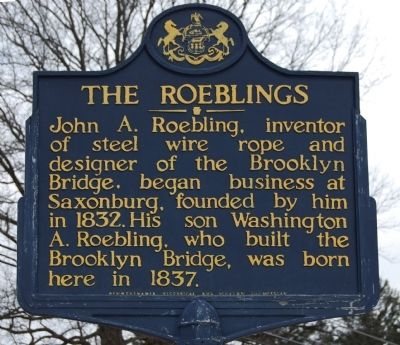 The Roeblings Marker image. Click for full size.