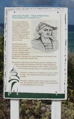 Grand Turk: The Original Columbus Landfall ? Marker image. Click for full size.
