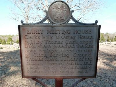 Early Meeting House Marker image. Click for full size.