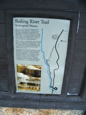 Boiling River Trail Marker image. Click for full size.