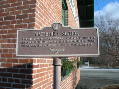 Waterford Station Marker image. Click for full size.
