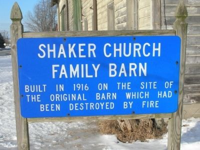 Shaker Church Family Barn Marker image. Click for full size.