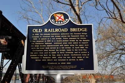 Old Railroad Bridge Marker (front) image. Click for full size.