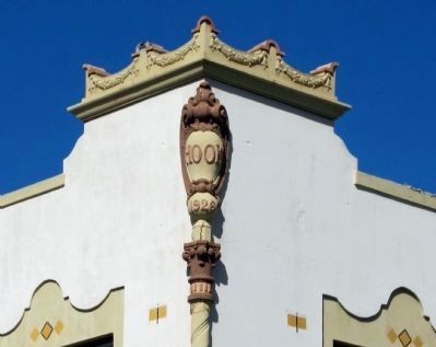 "Hook Building detail - upper SW corner - ""Hook 1926"" image. Click for full size."