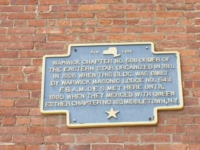 Order of the Eastern Star Marker image. Click for full size.