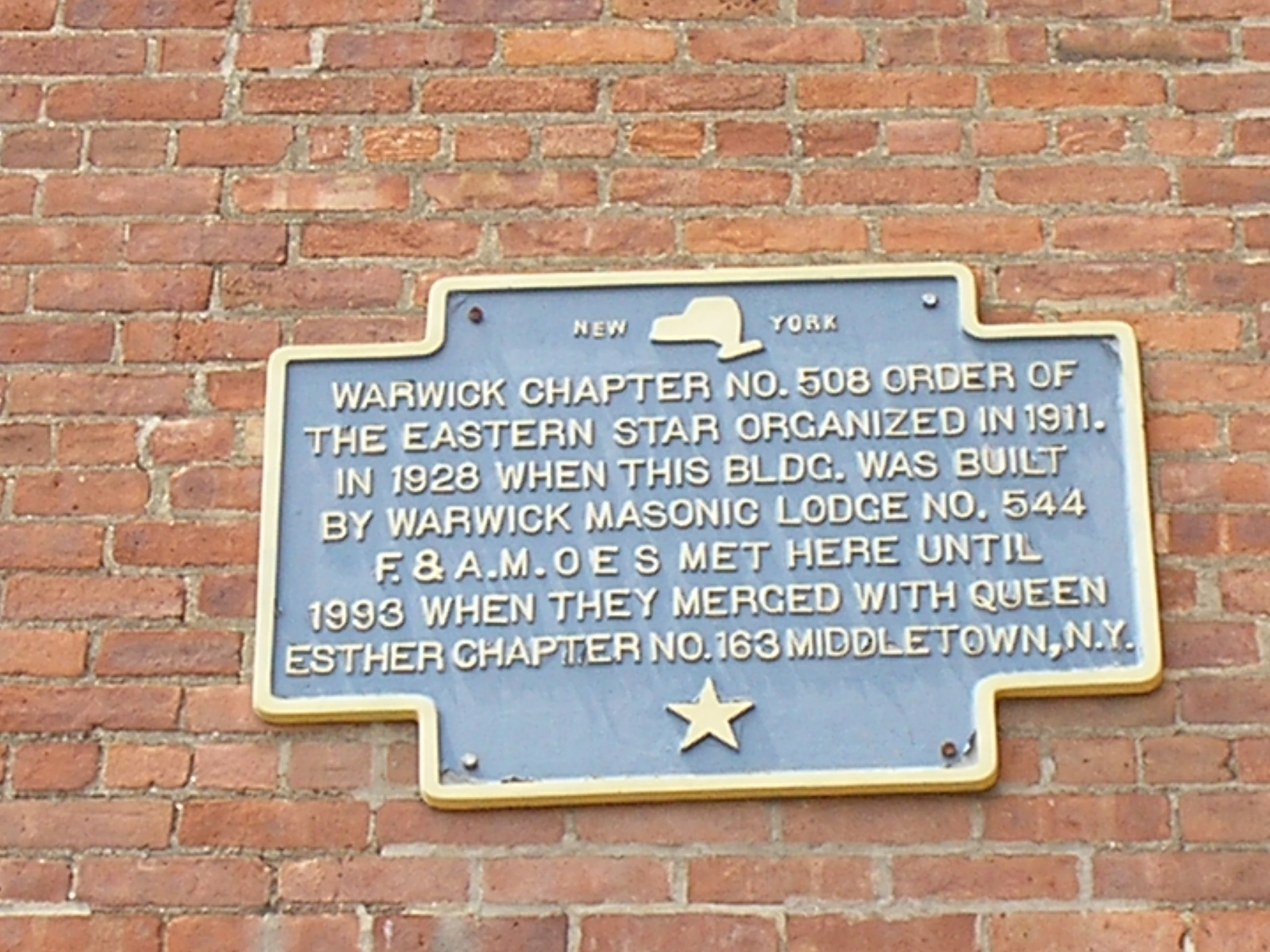 Order of the Eastern Star Marker
