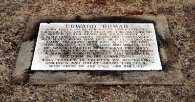 Edward Bomar Marker image. Click for full size.