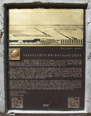 Frank Lloyd Wright and Arizona Marker image. Click for full size.
