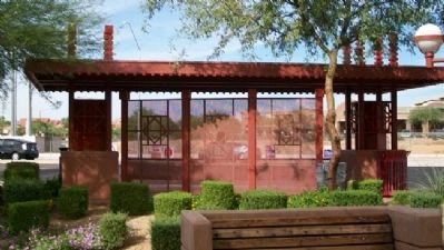 Frank Lloyd Wright Park Bus Stop Shelter image. Click for full size.
