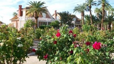 Rose Garden in Front of Main House & Guest House image. Click for full size.