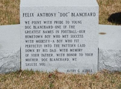 "Felix Anthony ""Doc"" Blanchard Marker image. Click for full size."