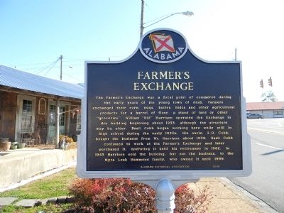 Farmer's Exchange Marker image. Click for full size.