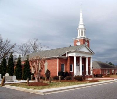 Honea Path Presbyterian Church -<br>Located Just North of the Cemetery image. Click for full size.