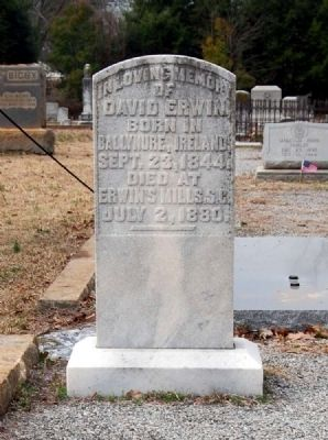 David Erwin Tombstone image. Click for full size.