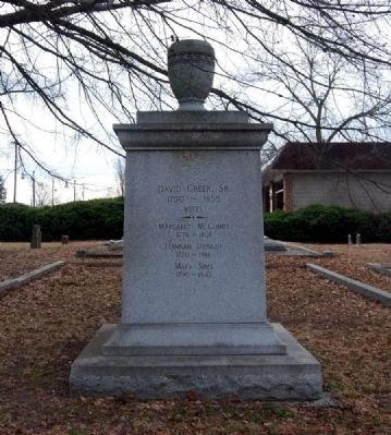 David Greer, Sr. Marker -<br>North Facing image. Click for full size.