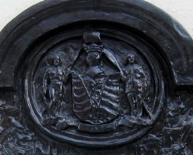 Here Stood Hamilton Marker Detail - Vancouver's (2nd) Coat of Arms image. Click for full size.